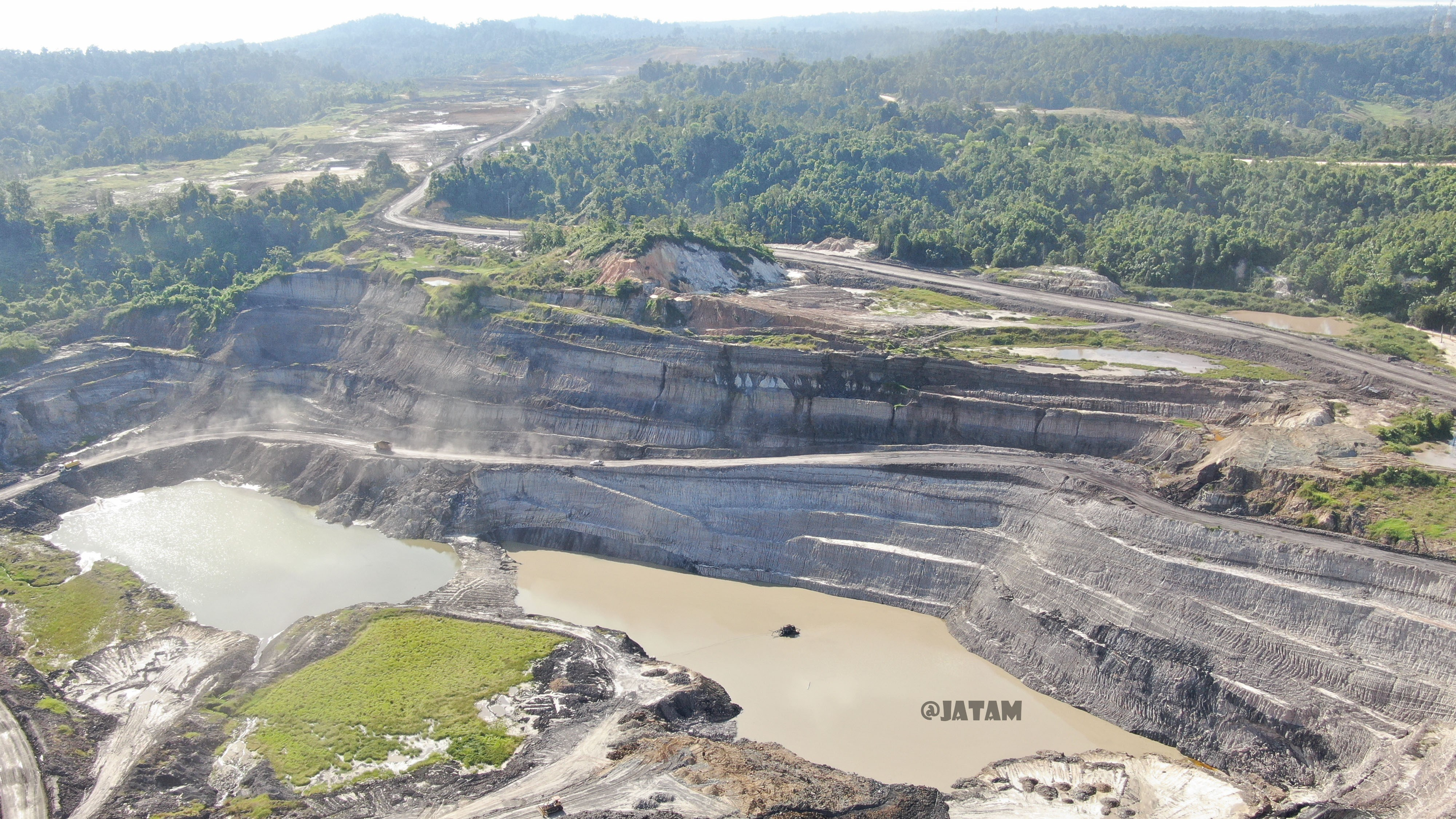A huge mine on a small island - Adani's coal mine on Bunyu, North Kalimantan. Photo JATAM