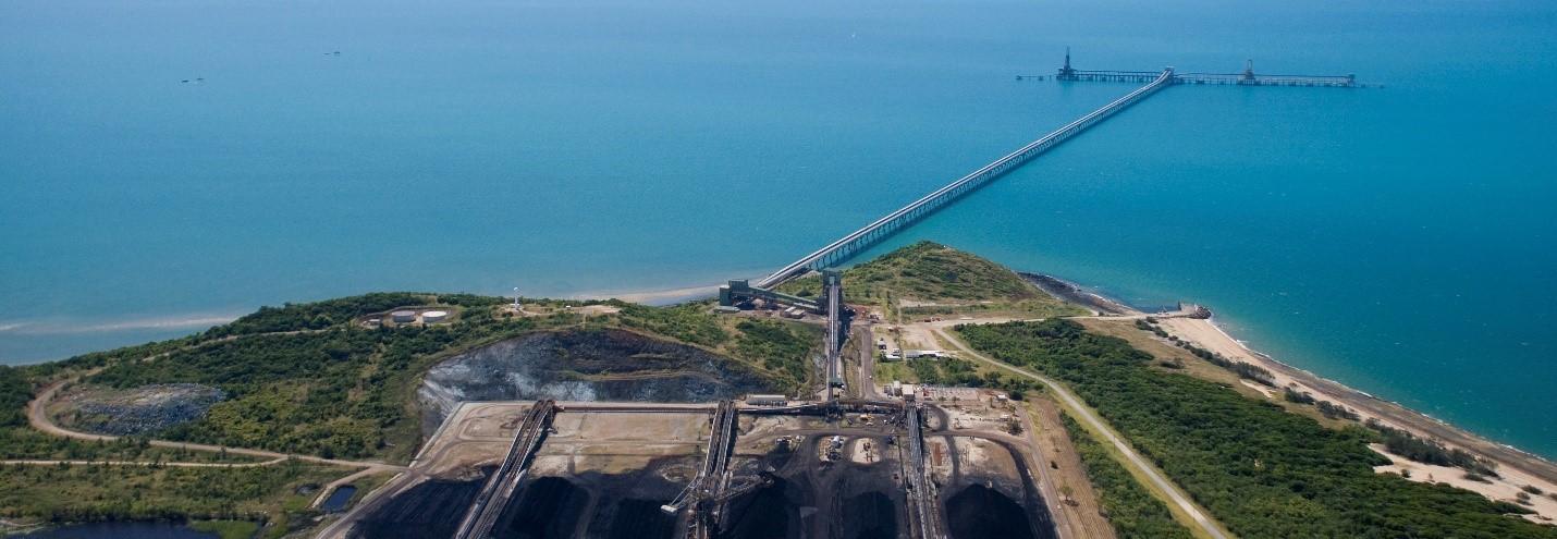 Adani's Abbot Point coal terminal. Photo Qld State Development