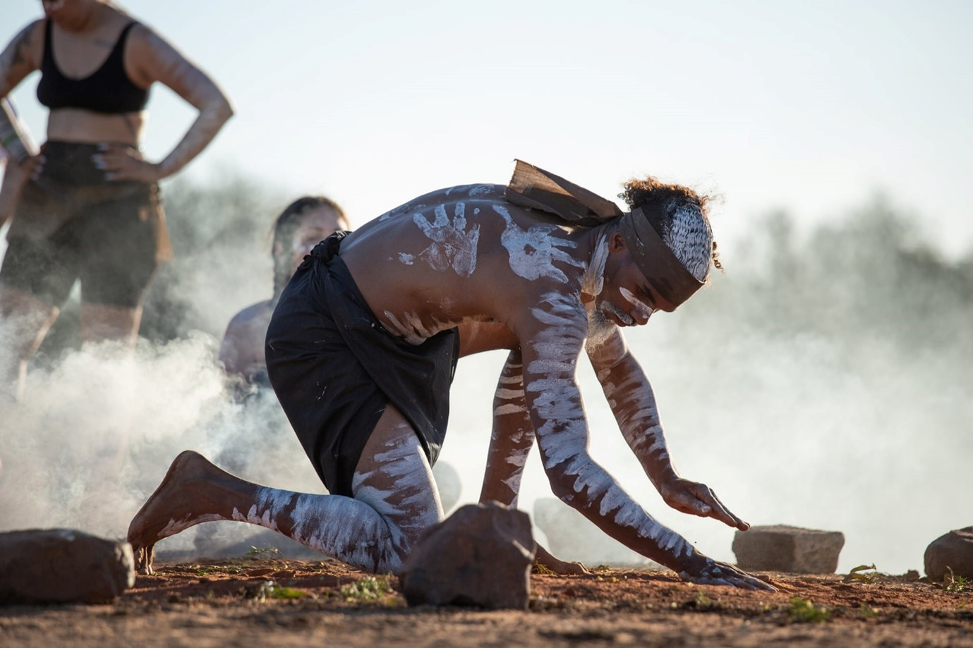 The Waddananggu ceremony of the W&J indigenous people on Country threatened by Adani's coal project