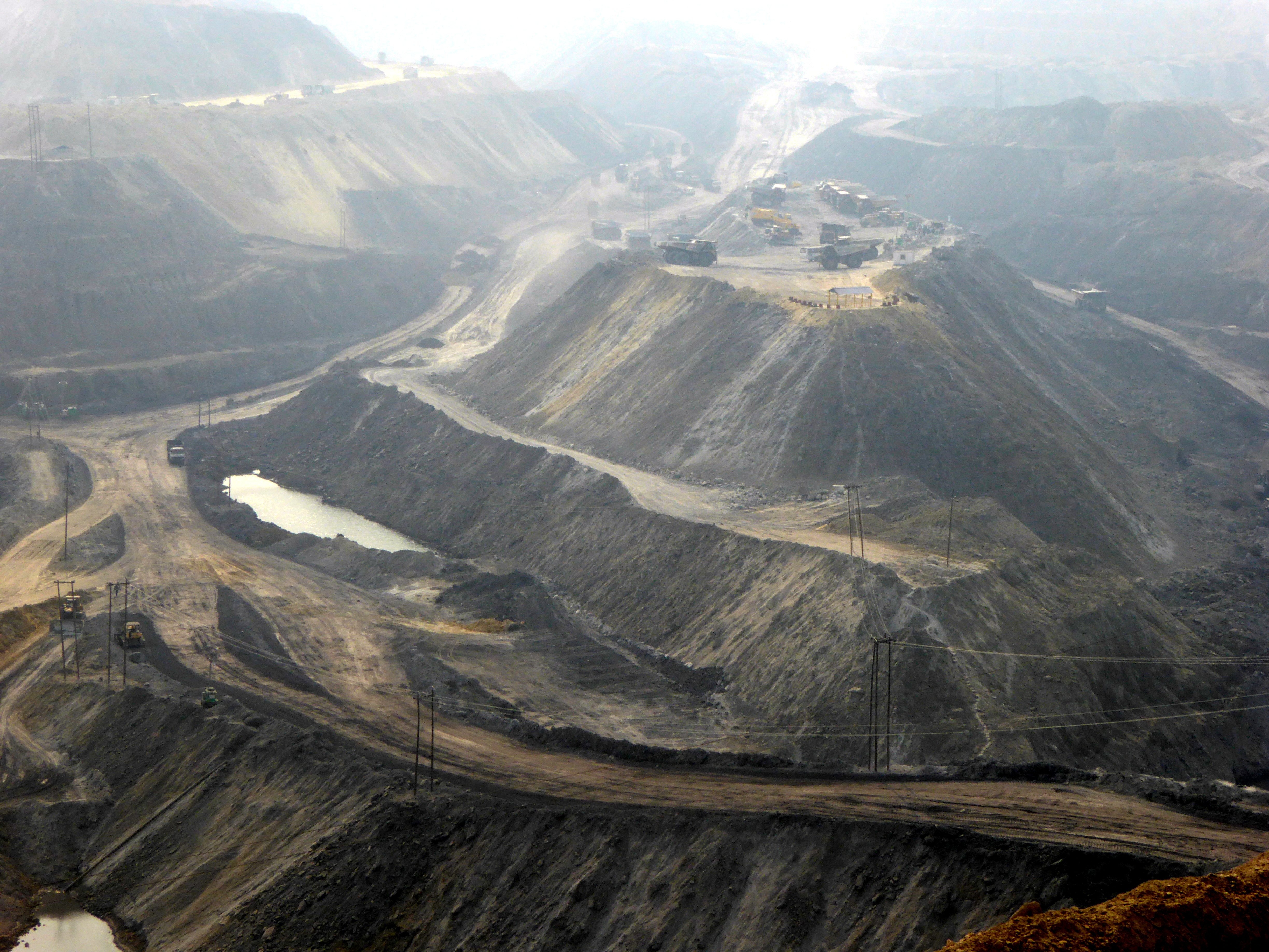 A (non-Adani) coal mine in Jharkhand, India. This is what's planned for the villages, forests and farmland of Gondalpura. Photo Geoff Law