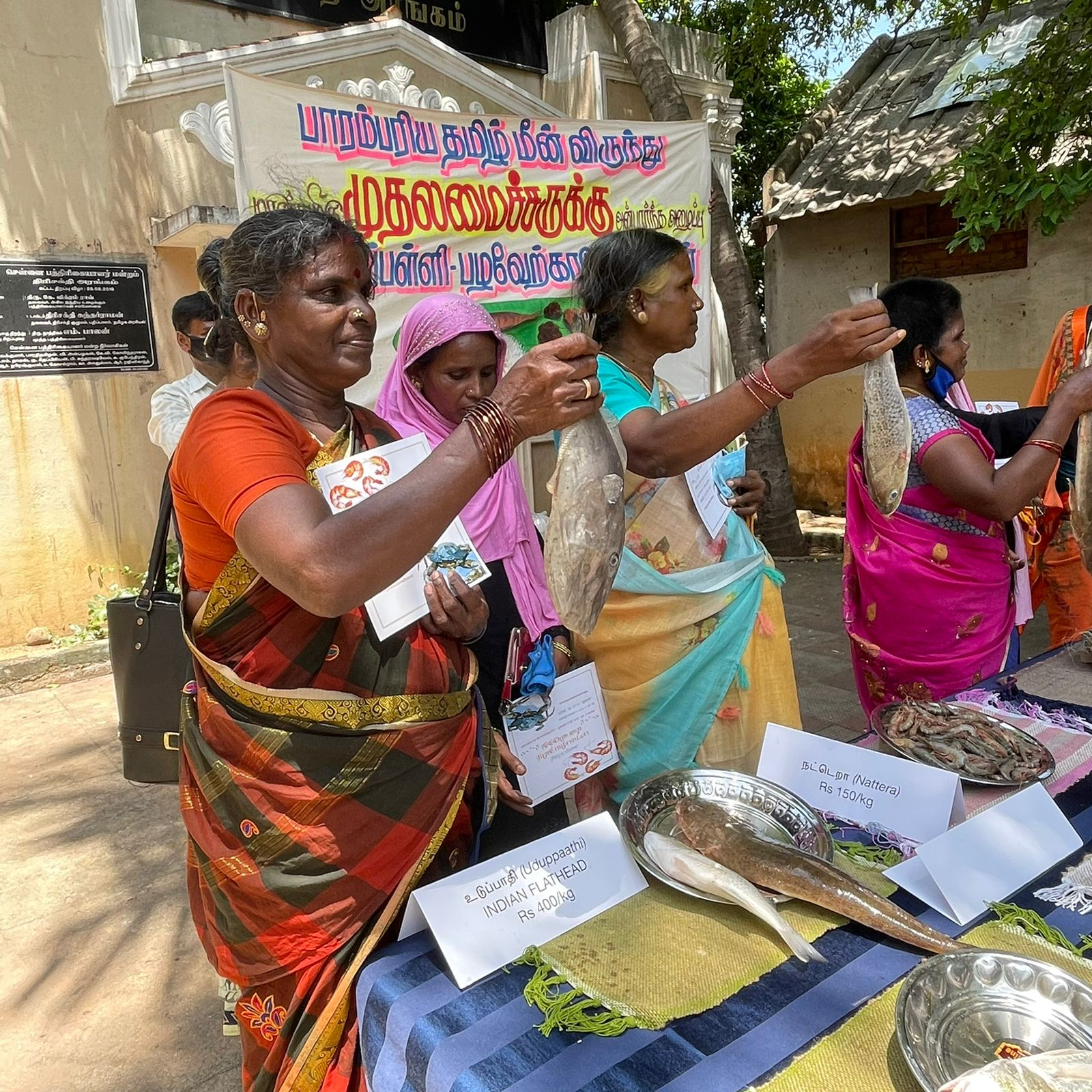 The last sTamil women organise a seafood feast for Chief Minister after pledge to save coast from Adani's port development.