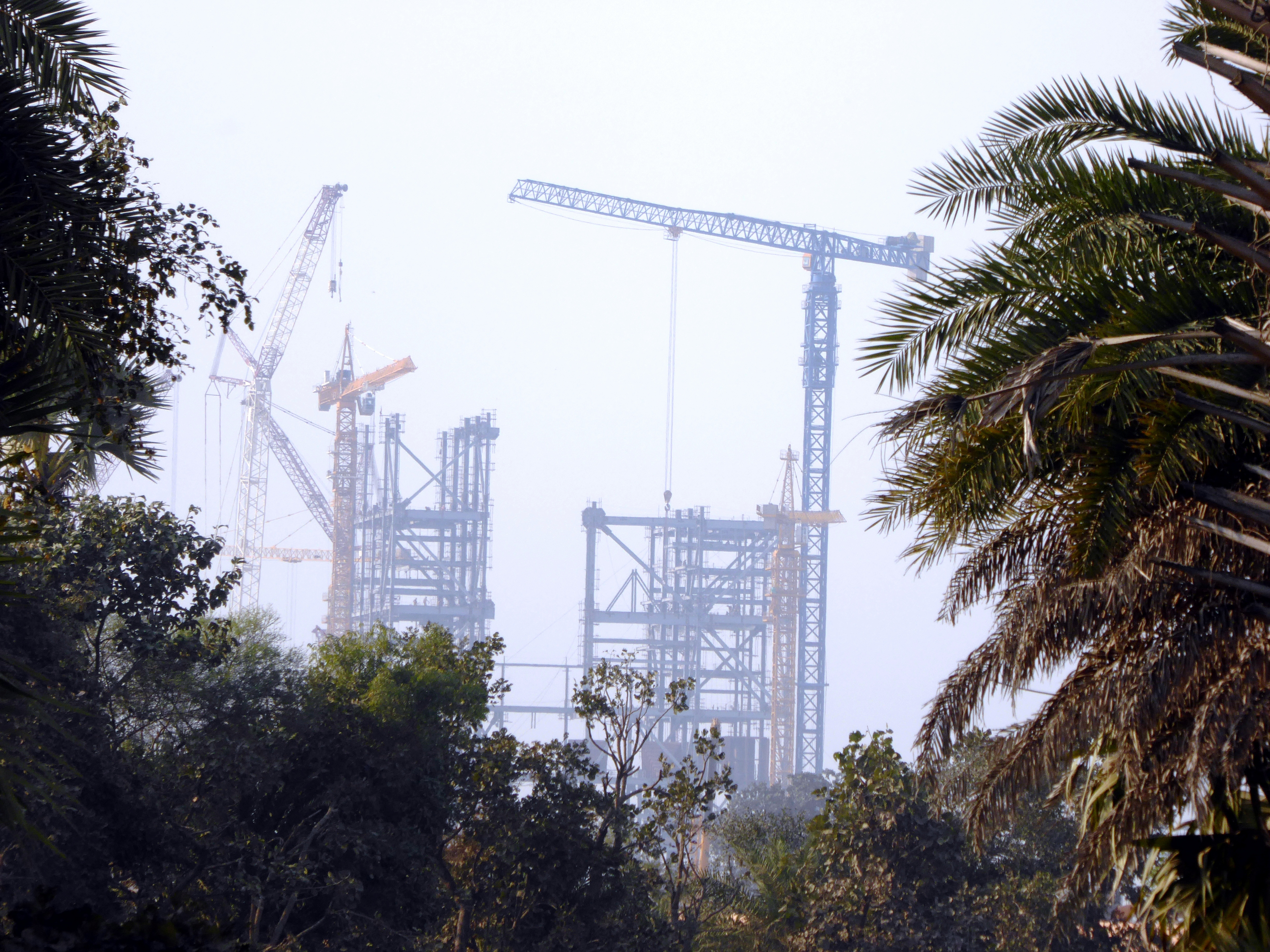 A new Adani coal-power station under construction in India - the Group's expansion of coal exploitation has harmed its reputation. Photo Geoff Law