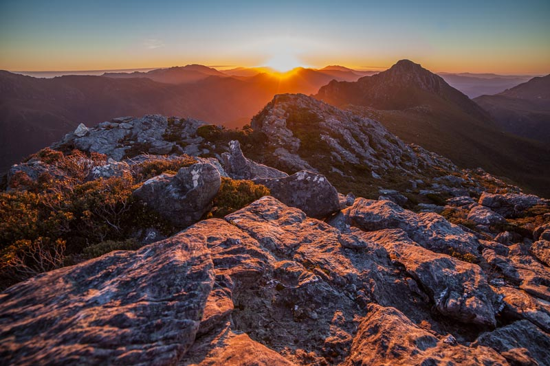 Photo: Frankland Range, Tasmanian Wilderness World Heritage Area, by Dan Broun.