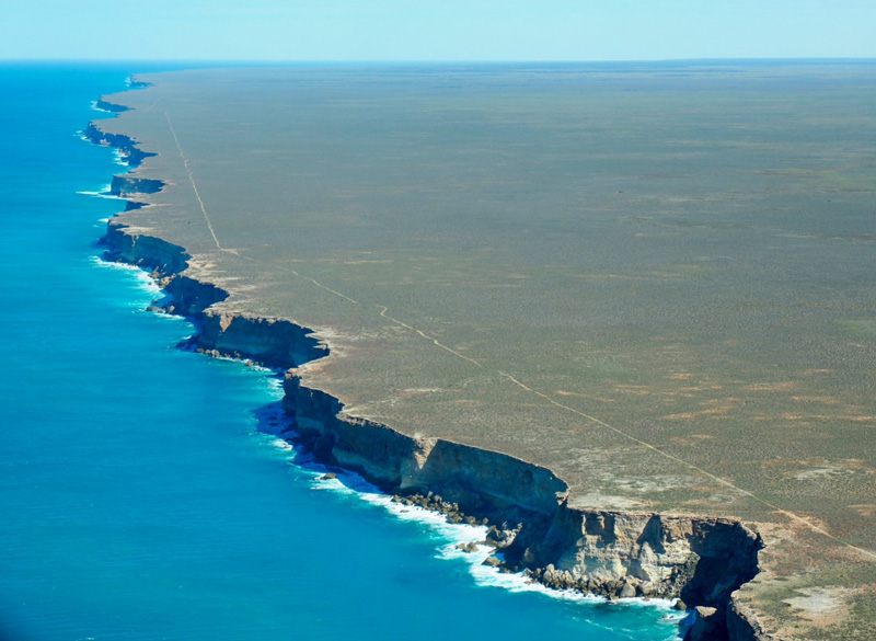The Bunda Cliffs of the Nullarbor Plain west of Ceduna