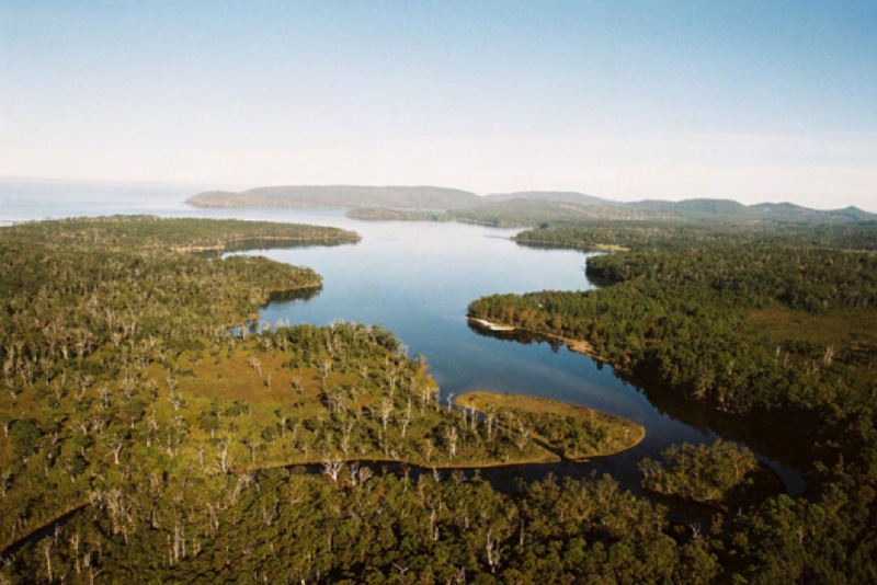 Aerial photograph of northern area of Recherche Bay, 2005