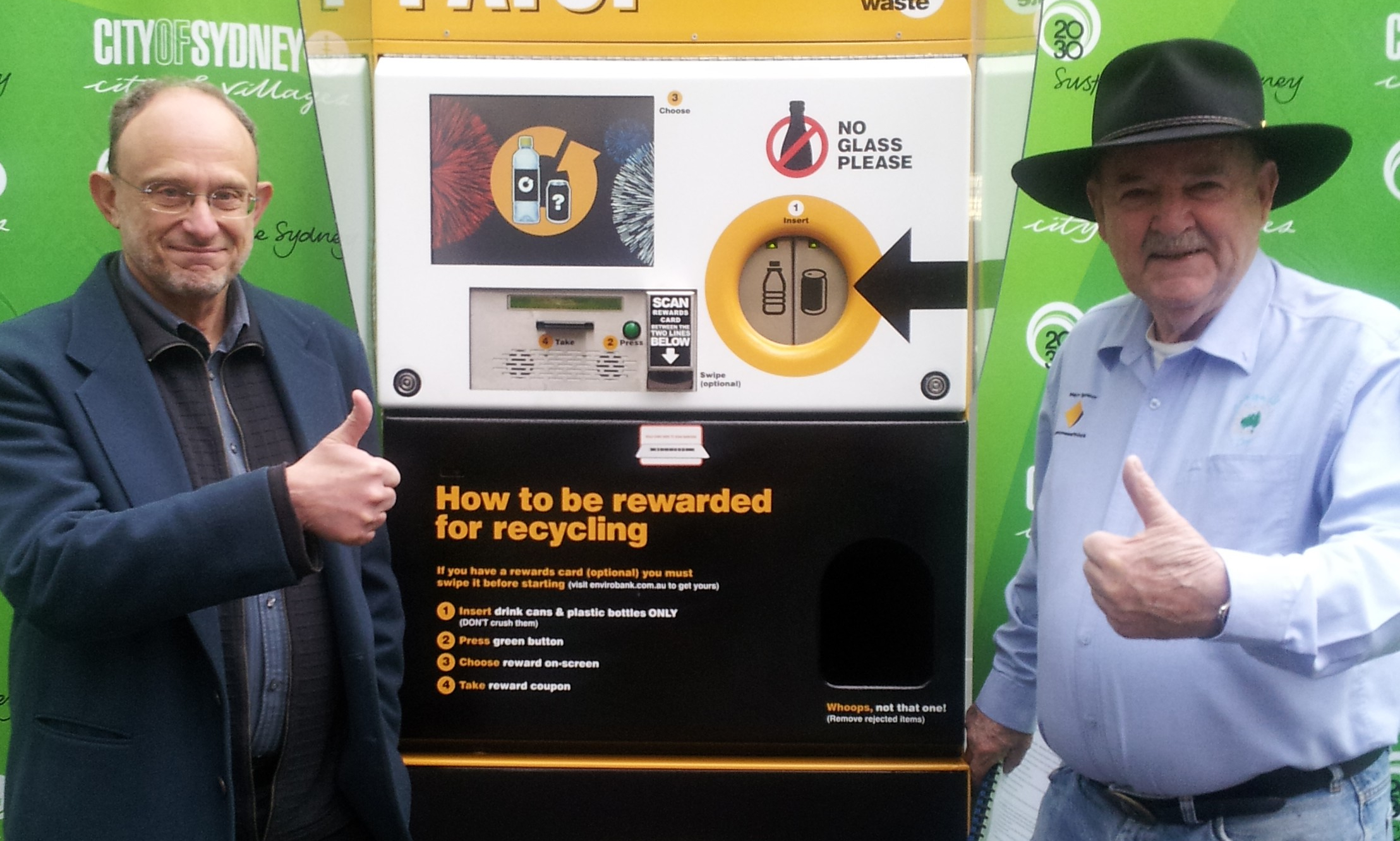 Ian Kiernan & Jeff Angel - Cash for Containers campaign