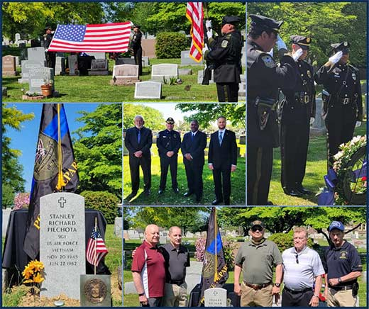 BTPD Performed Ceremonial Unveiling of Headstone for Former Sergeant