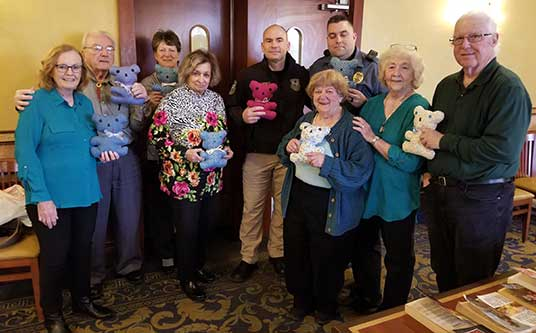Telephone Pioneers of America donated handmade Teddy Bears