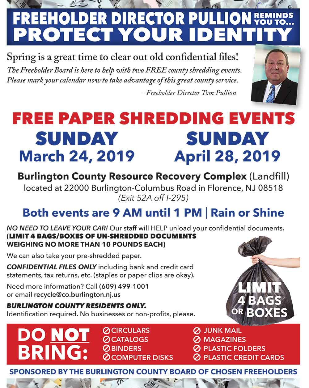 Free Paper Shredding Events - New Bordentown Township