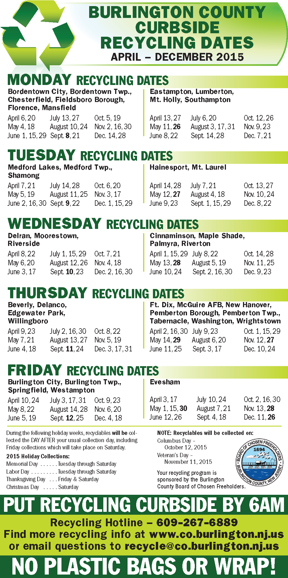 CurbsideRecyclingDates2015.png