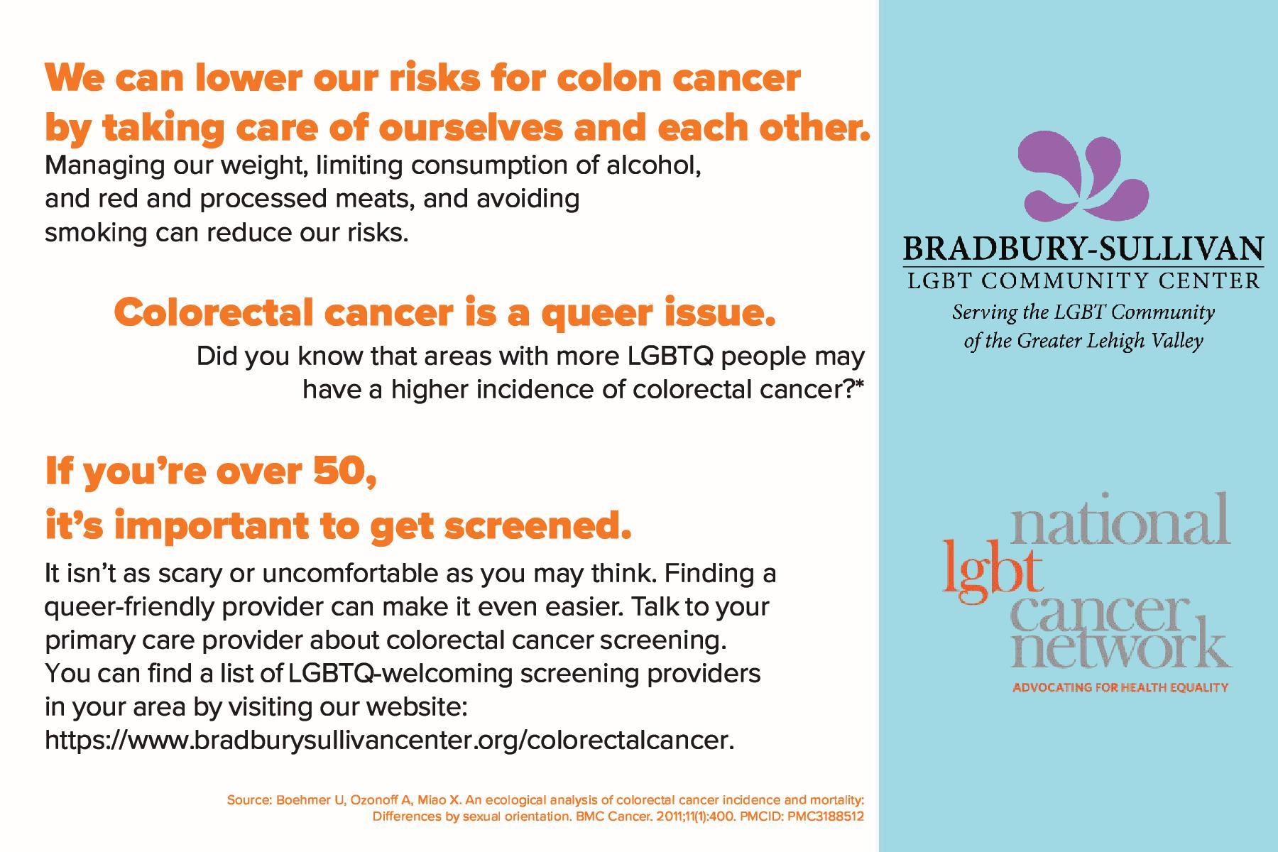 Colorectal Cancer Bradbury Sullivan Lgbt Community Center