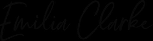 Emilia Clarke's hand-written signature