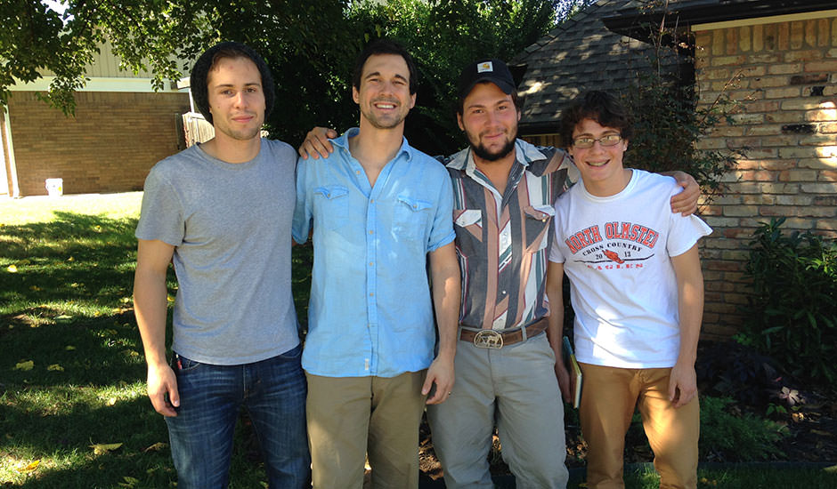 L to R: Nathanael, Clay, Gabriel and Liam. This was Sept of 2013 when 3 of Clay's brothers came to visit.