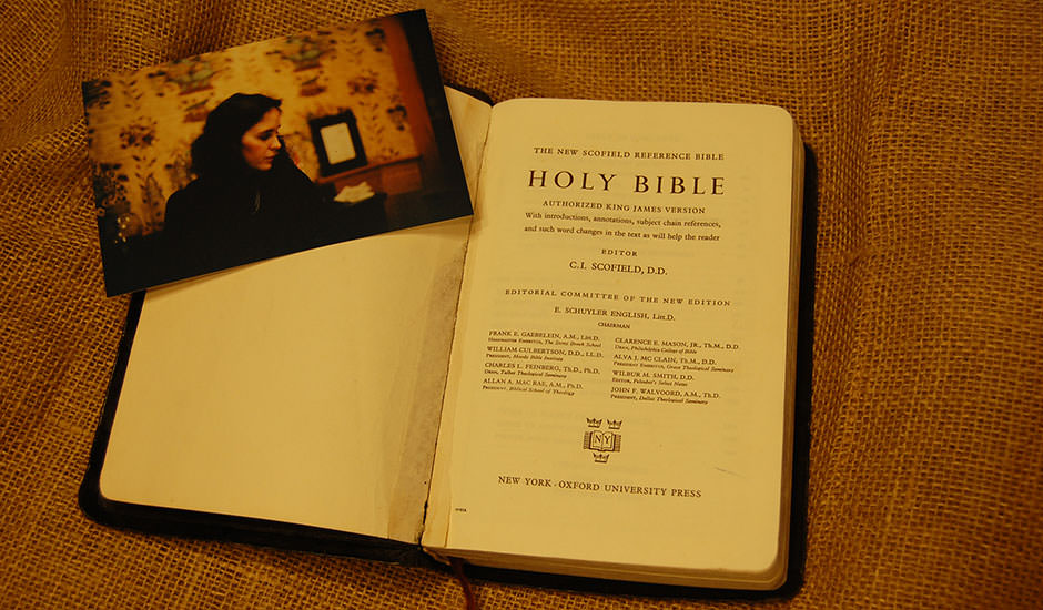 The Bible that Priscilla gave to Clay, that Clay's birth father had given to her.