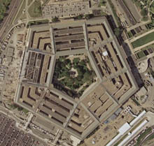 Pentagon satellite image