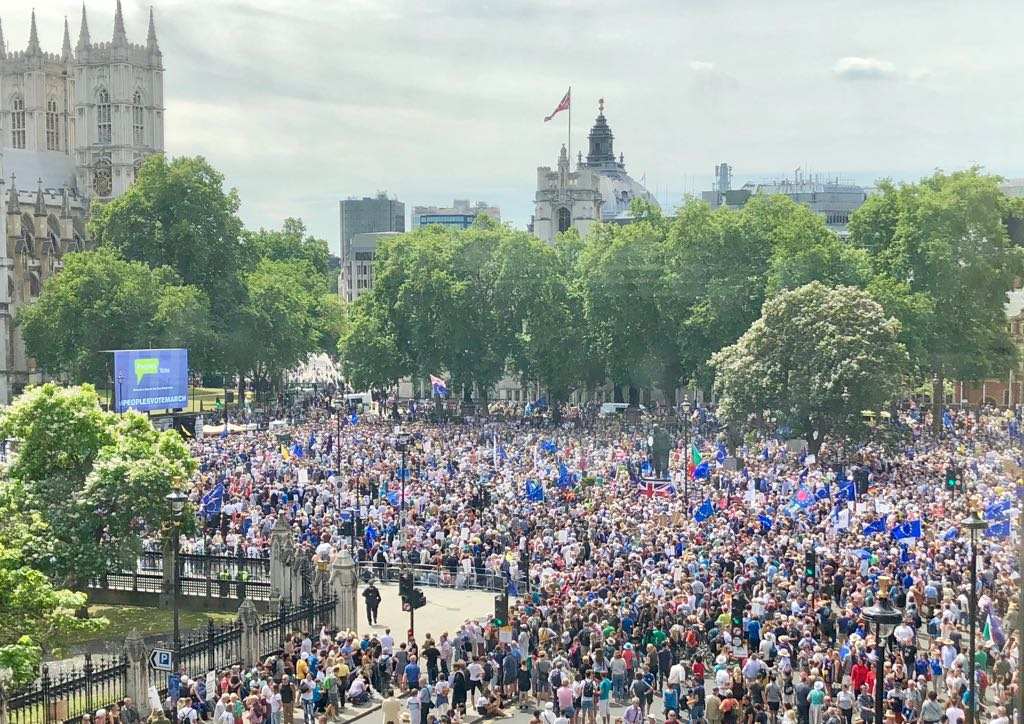 The People's Vote rally in Parliament Square, June 23rd 2018