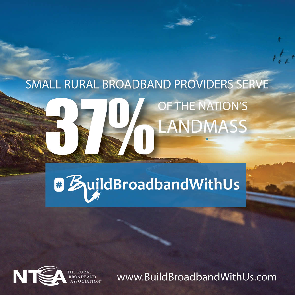Small Rural broadband providers serve 37% of the nation's landmass
