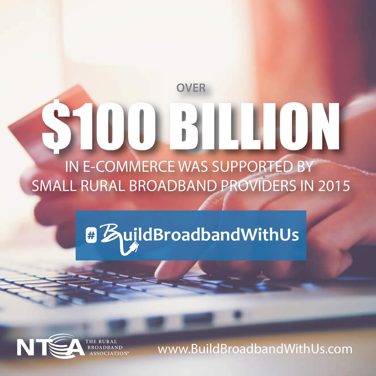 Over $100 Billion in E-Commerce was supported by small rural broadband providers in 2015