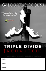 TRIPLE DIVIDE [REDACTED] Screening Poster