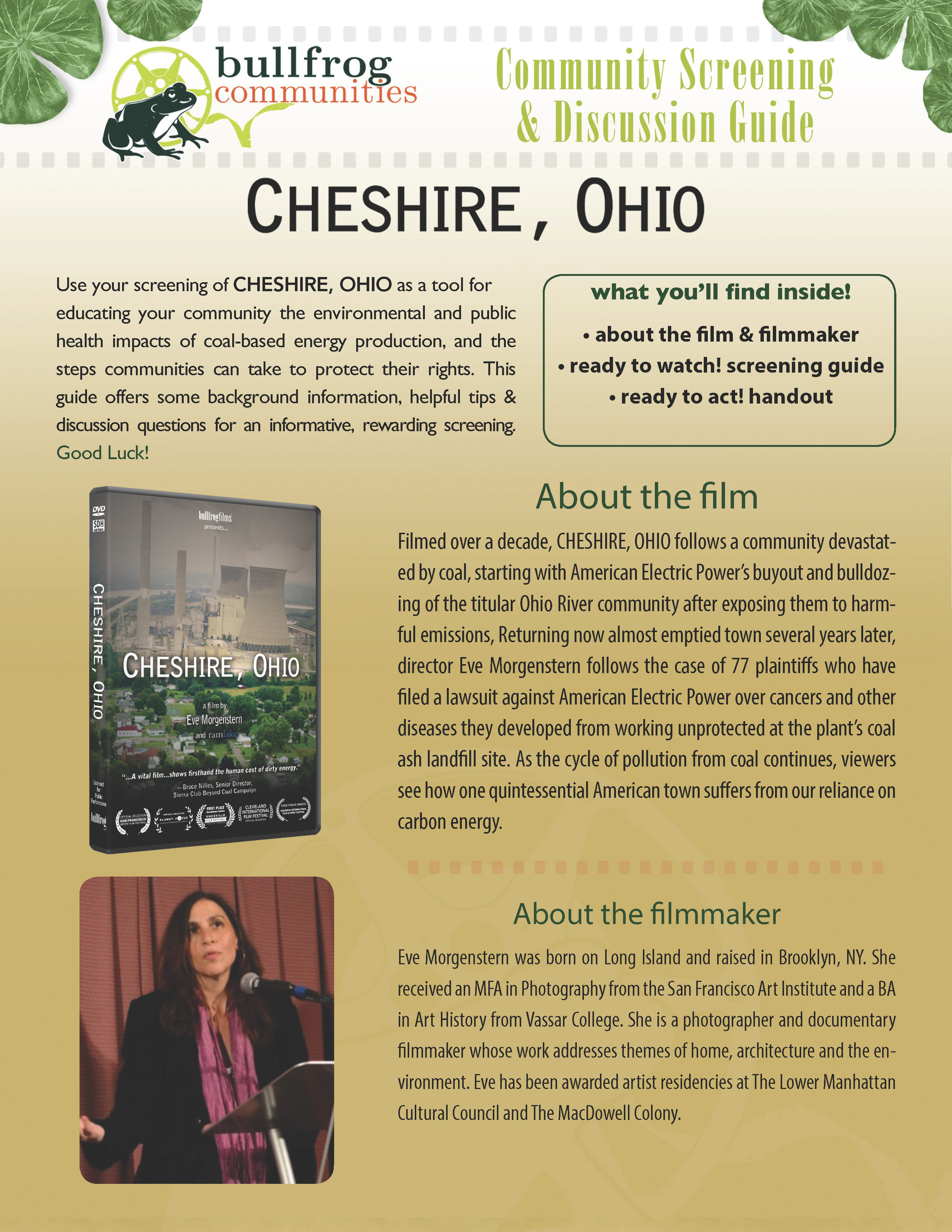 CHESHIRE, OHIO Screening Guide