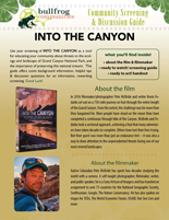 INTO THE CANYON Discussion Guide