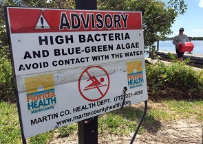 Local coastal county health departments warned people to stay out of the water