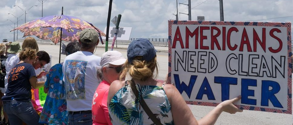 Protests erupted on Florida's Treasure Coast over another toxic summer in 2019