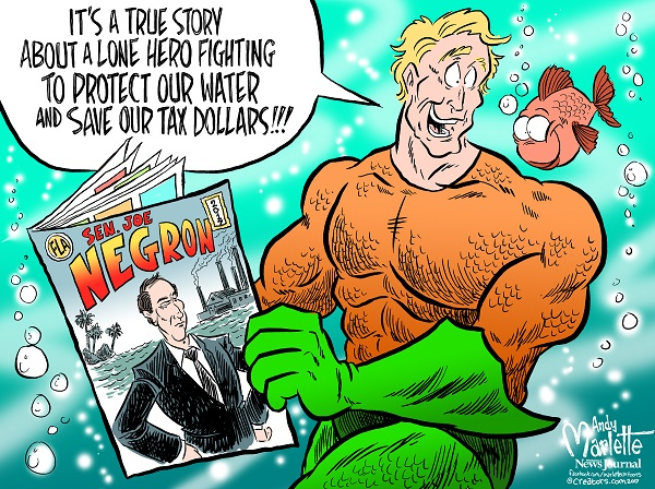Joe Negron, Lone Hero by Andy Marlette/Pensacola News Journal. Reprinted with permission.