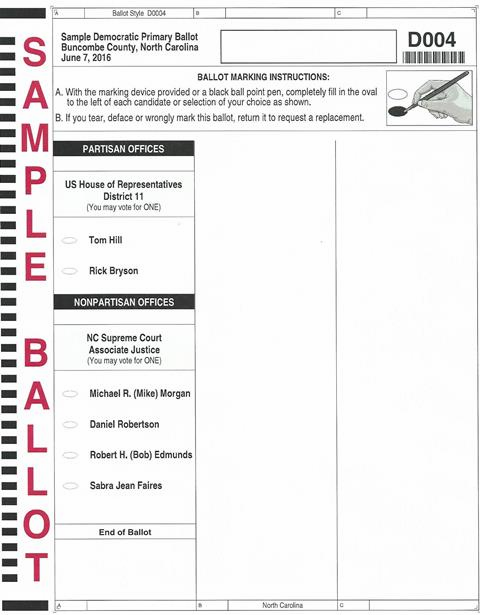 N004 Primary Ballot