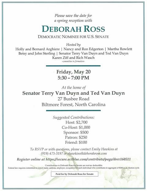 Deborah Ross U S Senate