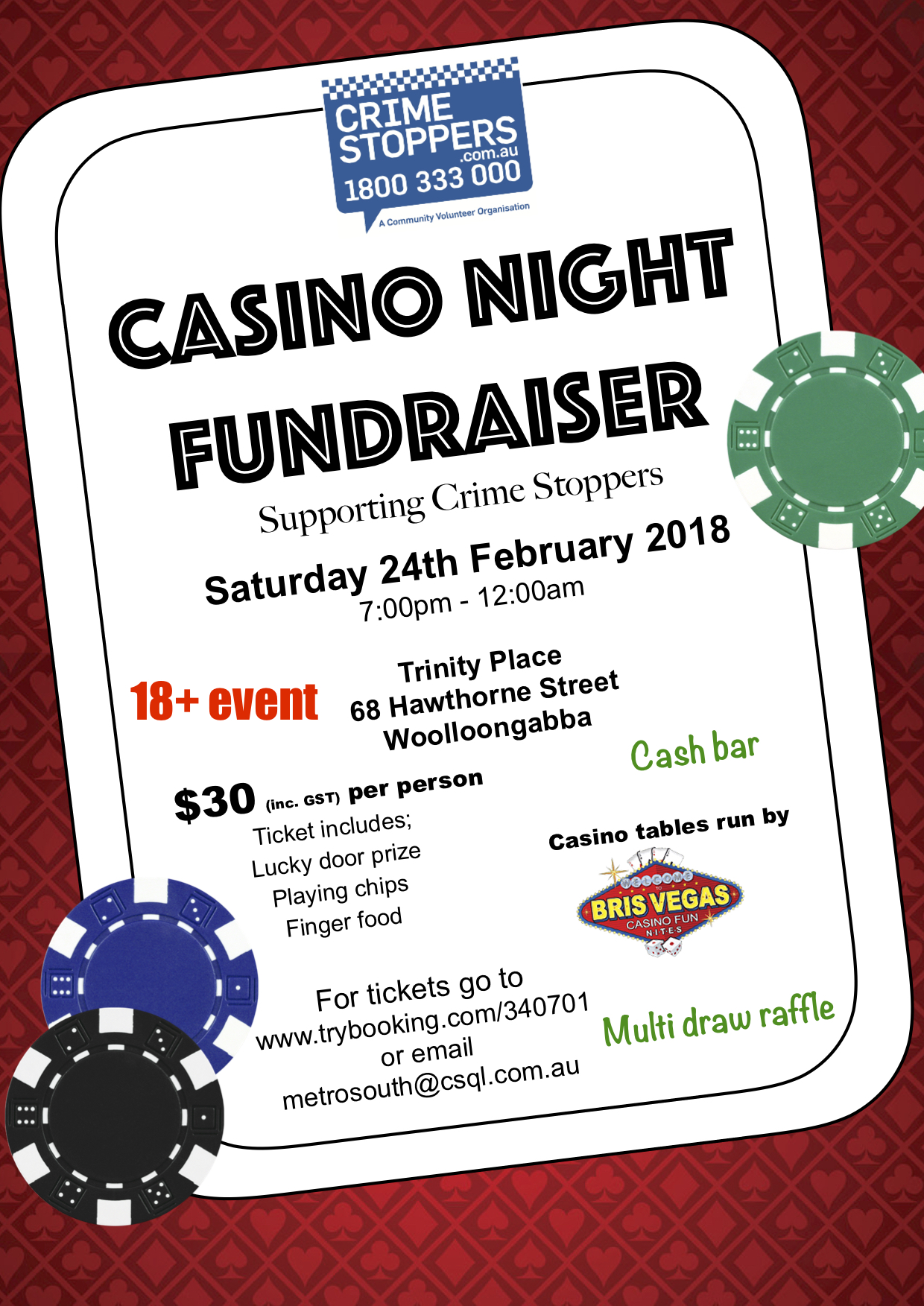Casino Night Fundraiser: Crime Stoppers