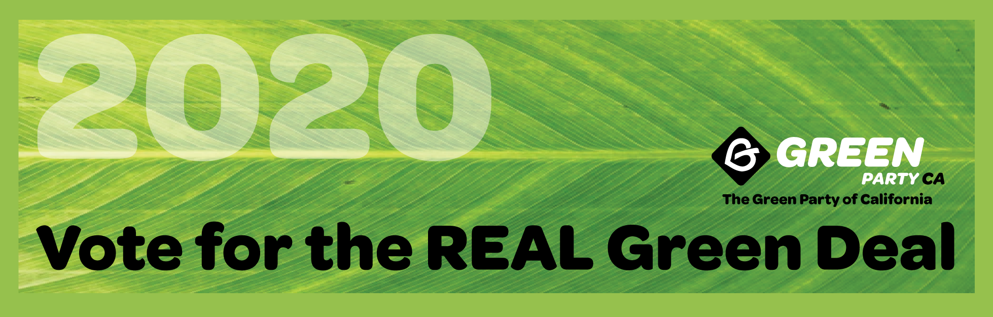 2020 Vote For The Real Green Deal