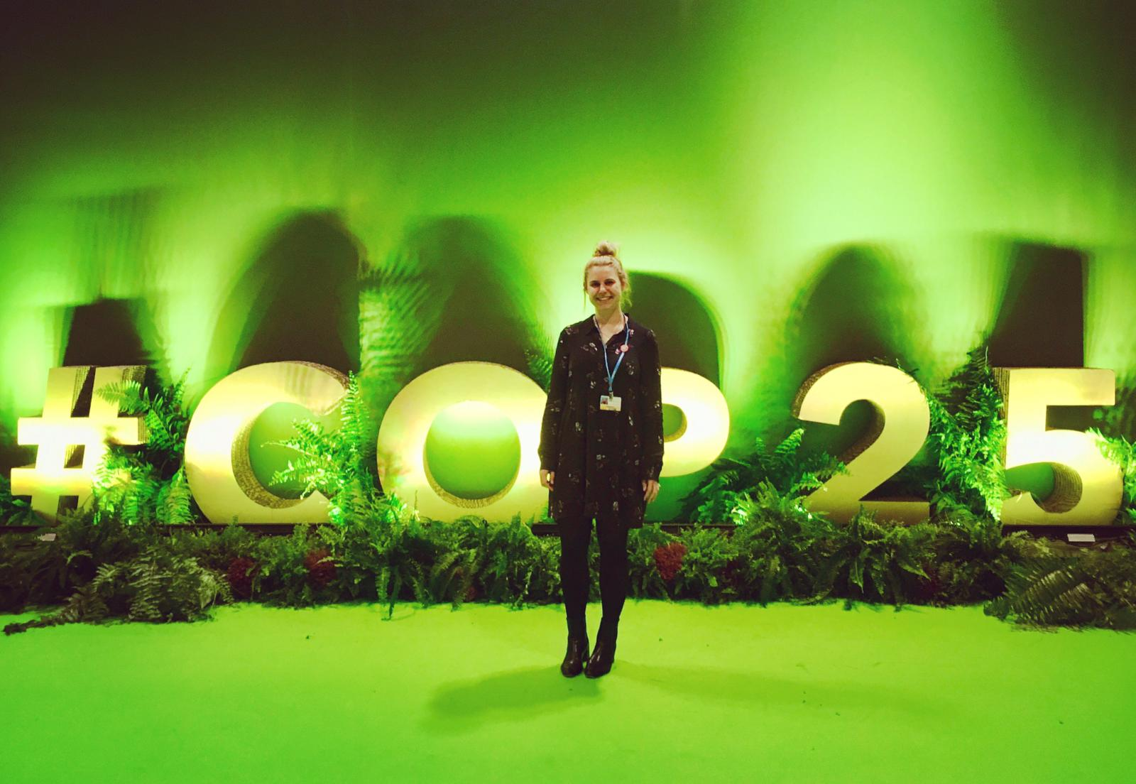Milly Burgess has arrived to #COP25