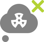 Nuclear cloud icon