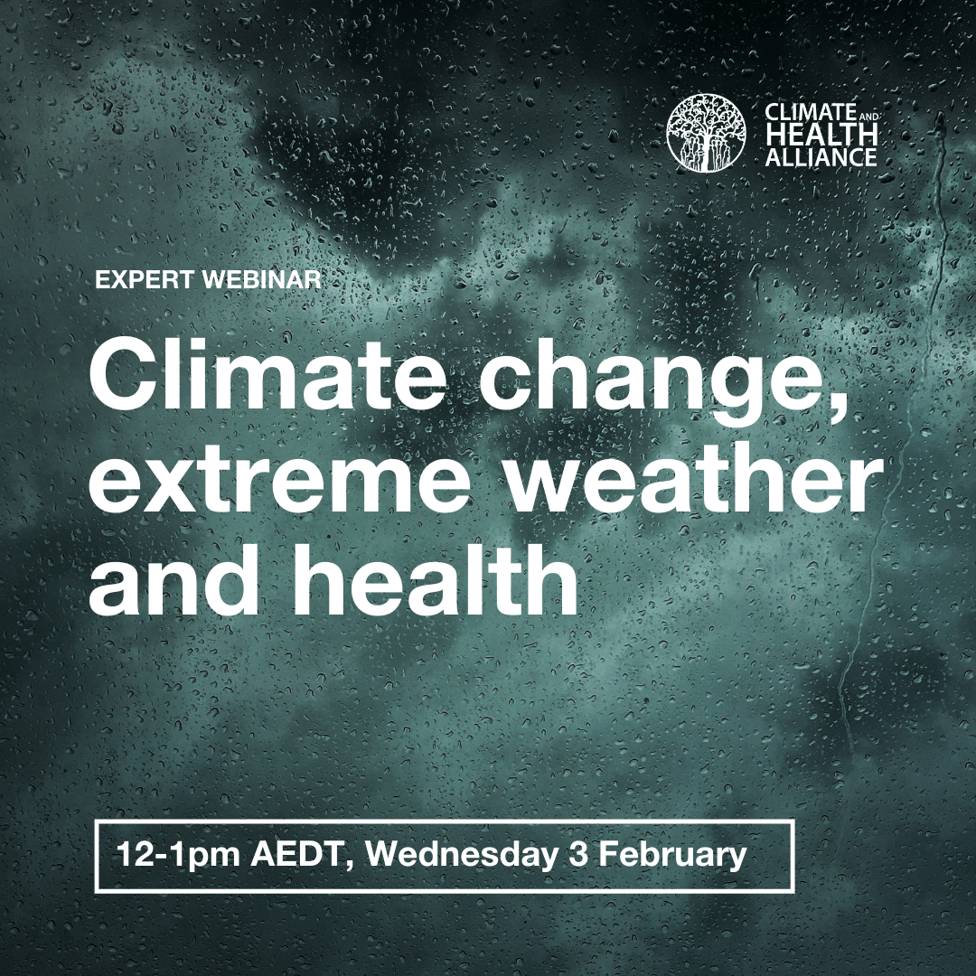 CAHA webinar on climate change, extreme weather and health