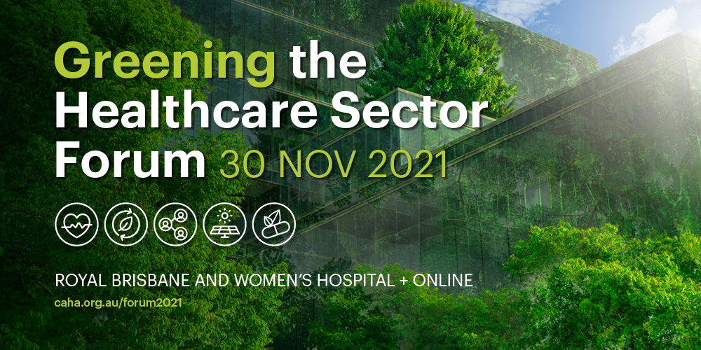 Greening the Healthcare sector forum banner image