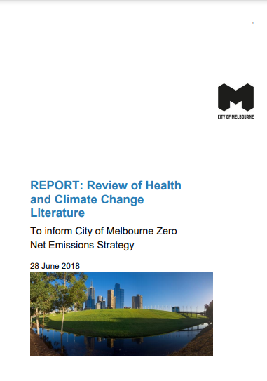 Report Cover: Review of the Climate Health Literature in 2018