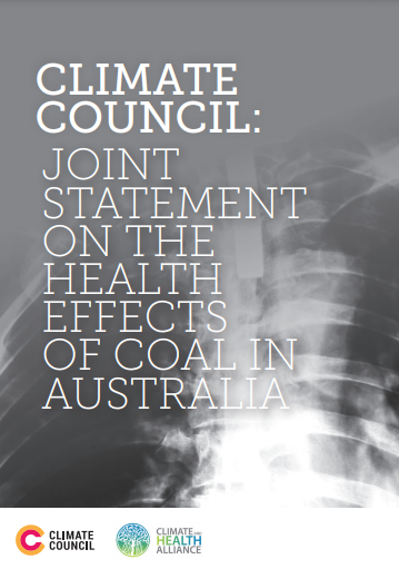 Report Cover: Joint Statement on Coal and Health