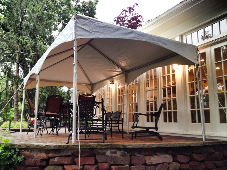 Party Tent Over Patio
