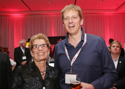 Mike O'Neill and Premier Kathleen Wynne
