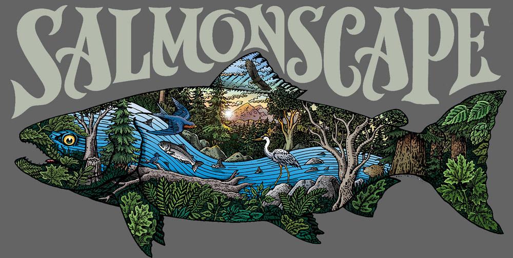 SALMONSCAPE T-Shirt Logo
