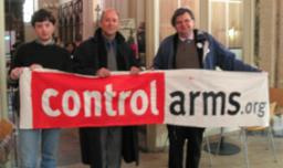 Lib Dems hold Control Arms banner
