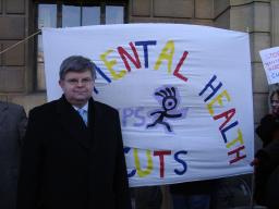 David with YPS banner