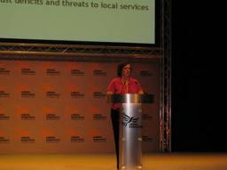 Cllr Joye Rosenstiel addressing Conference