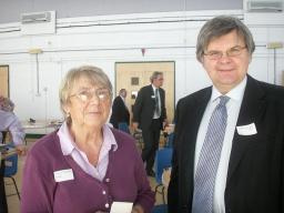 David Howarth with Celebrating Age chair Dorothy Runnicles