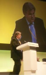 David Howarth addressing Party Conference