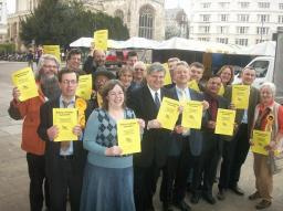 Lib Dem candidates and councillors join David Howarth to launch the manifesto