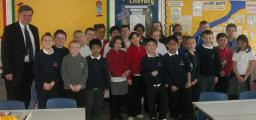 David Howarth with Colville School Pupils