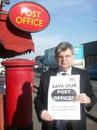 David Howarth at the Newmarket Road Post Office