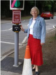 Councillor Anne Kent with the Brooklands Avenue crossing